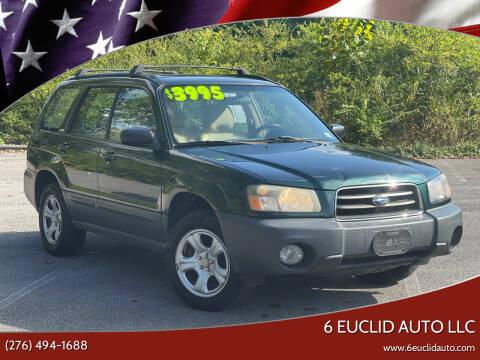 2004 Subaru Forester for sale at 6 Euclid Auto LLC in Bristol VA