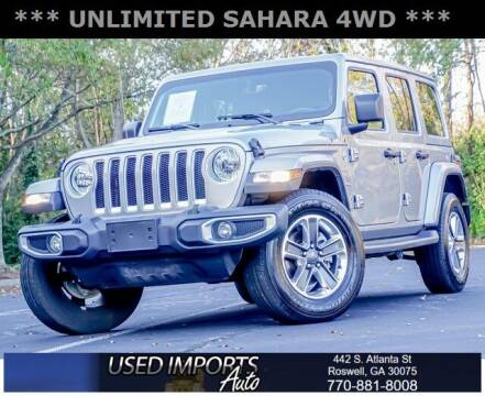 2020 Jeep Wrangler Unlimited for sale at Used Imports Auto in Roswell GA