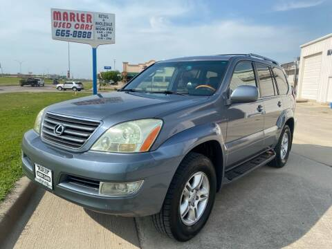 2004 Lexus GX 470 for sale at MARLER USED CARS in Gainesville TX