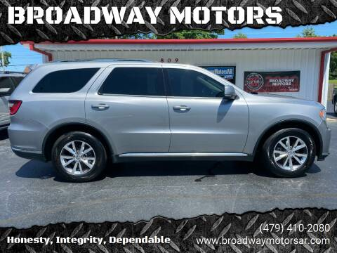 2016 Dodge Durango for sale at BROADWAY MOTORS in Van Buren AR