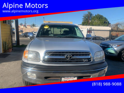 2000 Toyota Tundra for sale at Alpine Motors in Van Nuys CA