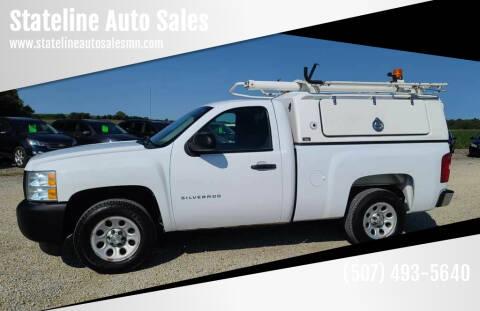 2012 Chevrolet Silverado 1500 for sale at Stateline Auto Sales in Mabel MN