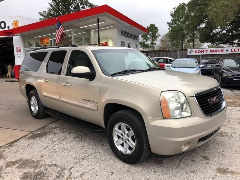 2007 GMC Yukon XL for sale at Richmond Car Co in Richmond TX