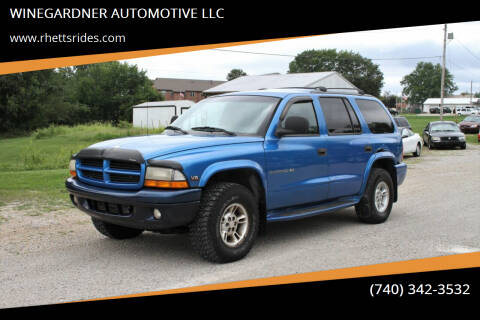 1999 Dodge Durango for sale at WINEGARDNER AUTOMOTIVE LLC in New Lexington OH