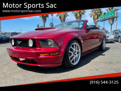 2007 Ford Mustang for sale at Motor Sports Sac in Sacramento CA