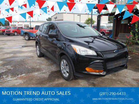 2013 Ford Escape for sale at MOTION TREND AUTO SALES in Tomball TX