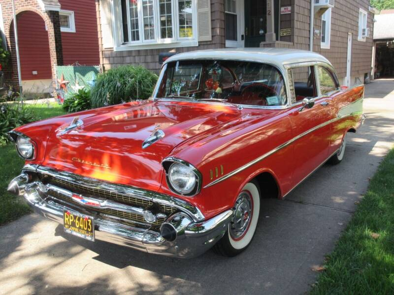 1957 Chevrolet Bel Air for sale at Island Classics & Customs in Staten Island NY