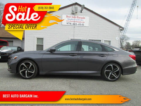 2018 Honda Accord for sale at BEST AUTO BARGAIN inc. in Lowell MA