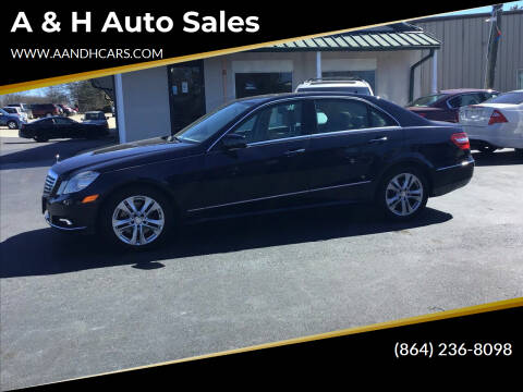 2010 Mercedes-Benz E-Class for sale at A & H Auto Sales in Greenville SC