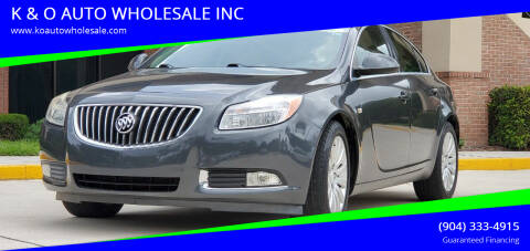 2011 Buick Regal for sale at K & O AUTO WHOLESALE INC in Jacksonville FL