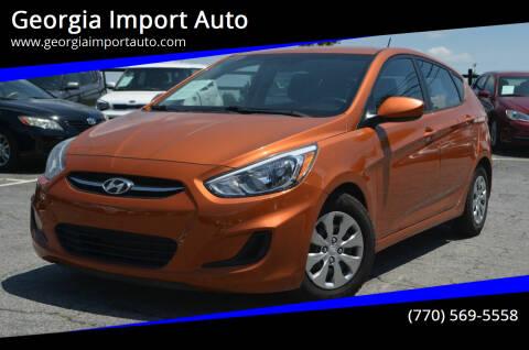 2015 Hyundai Accent for sale at Georgia Import Auto in Alpharetta GA