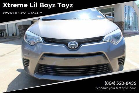 2015 Toyota Corolla for sale at Xtreme Lil Boyz Toyz in Greenville SC
