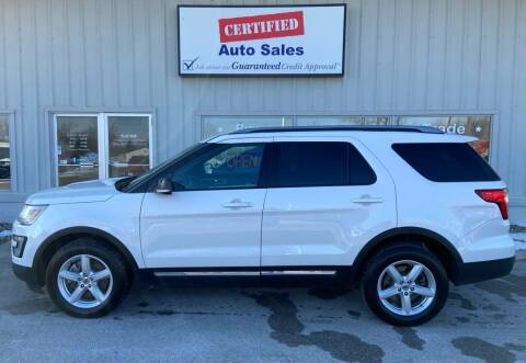 2016 Ford Explorer for sale at Certified Auto Sales in Des Moines IA