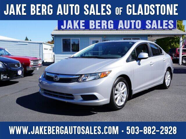2012 Honda Civic for sale at Jake Berg Auto Sales in Gladstone OR