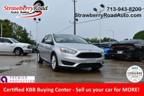 2016 Ford Focus for sale at Strawberry Road Auto Sales in Pasadena TX