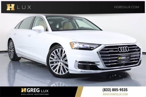2020 Audi A8 L for sale at HGREG LUX EXCLUSIVE MOTORCARS in Pompano Beach FL