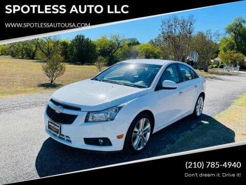 2014 Chevrolet Cruze for sale at SPOTLESS AUTO LLC in San Antonio TX
