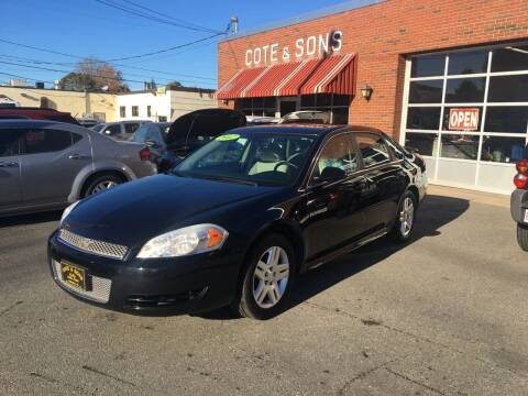 2012 Chevrolet Impala for sale at Cote & Sons Automotive Ctr in Lawrence MA
