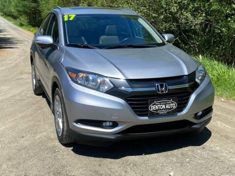 2017 Honda HR-V for sale at Denton Auto Inc in Craftsbury VT