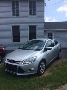2012 Ford Focus for sale at Village Auto Center INC in Harrisonburg VA