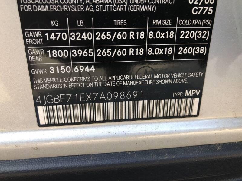 2007 Mercedes-Benz GL-Class AWD GL 450 4MATIC 4dr SUV - Danbury CT