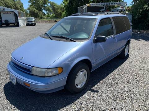 1995 Nissan Quest for sale at Manzanita Car Sales in Gridley CA