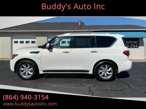 2014 Infiniti QX80 for sale at Buddy's Auto Inc in Pendleton, SC