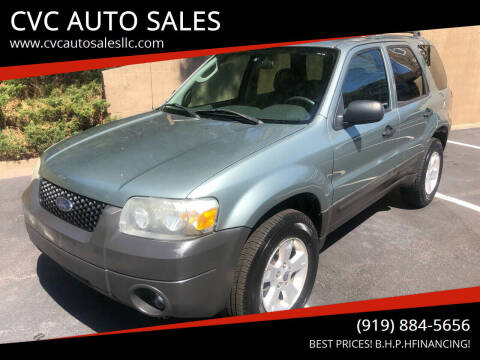 2006 Ford Escape for sale at CVC AUTO SALES in Durham NC