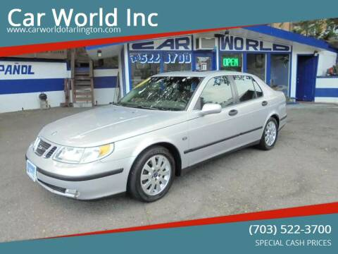 2003 Saab 9-5 for sale at Car World Inc in Arlington VA