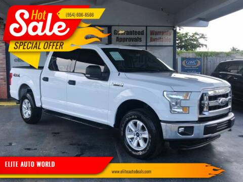 2015 Ford F-150 for sale at ELITE AUTO WORLD in Fort Lauderdale FL