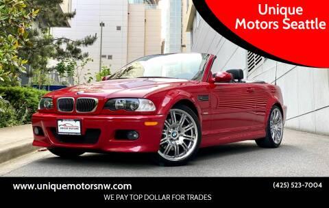 2005 BMW M3 for sale at Unique Motors Seattle in Bellevue WA
