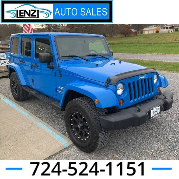 2012 Jeep Wrangler Unlimited for sale at LENZI AUTO SALES in Sarver PA