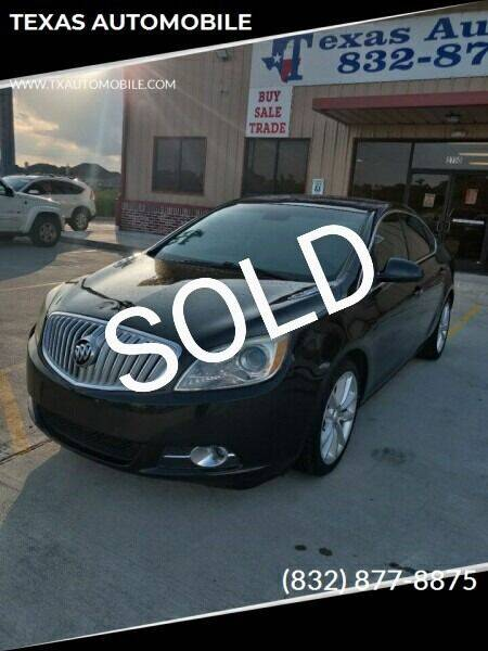 2013 Buick Verano for sale at TEXAS AUTOMOBILE in Houston TX