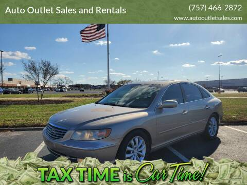 2006 Hyundai Azera for sale at Auto Outlet Sales and Rentals in Norfolk VA