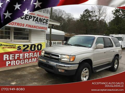 2000 Toyota 4Runner for sale at Acceptance Auto Sales Douglasville in Douglasville GA
