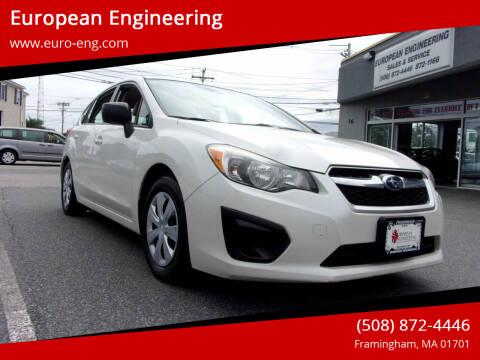 2014 Subaru Impreza for sale at European Engineering in Framingham MA