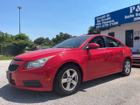 2014 Chevrolet Cruze for sale at P & A AUTO SALES in Houston TX