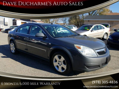 2007 Saturn Aura for sale at Dave Ducharme's Auto Sales in Lowell MA