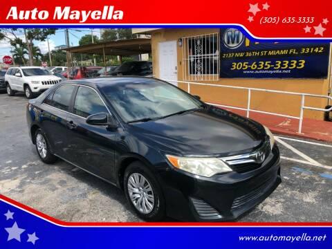 2012 Toyota Camry for sale at Auto Mayella in Miami FL