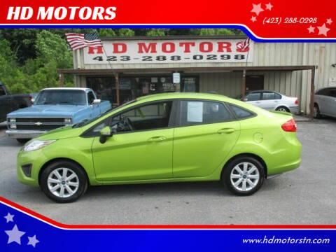 2013 Ford Fiesta for sale at HD MOTORS in Kingsport TN