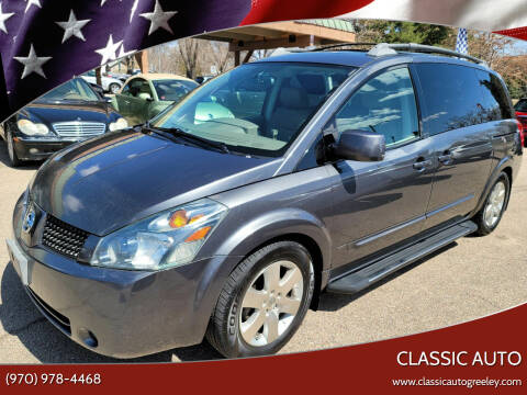 2004 Nissan Quest for sale at Classic Auto in Greeley CO