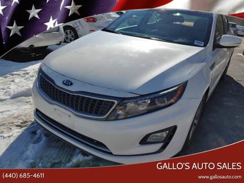 2015 Kia Optima Hybrid for sale at Gallo's Auto Sales in North Bloomfield OH
