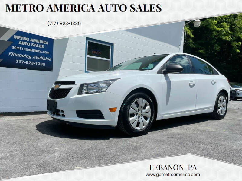 2013 Chevrolet Cruze for sale at METRO AMERICA AUTO SALES of Lebanon in Lebanon PA