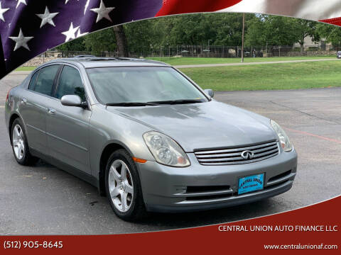 2004 Infiniti G35 for sale at Central Union Auto Finance LLC in Austin TX