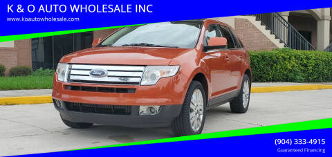 2008 Ford Edge for sale at K & O AUTO WHOLESALE INC in Jacksonville FL