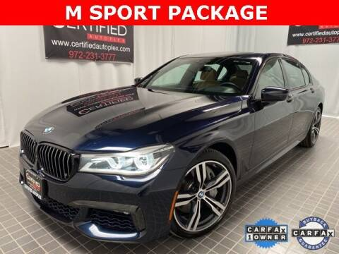 2017 BMW 7 Series for sale at CERTIFIED AUTOPLEX INC in Dallas TX