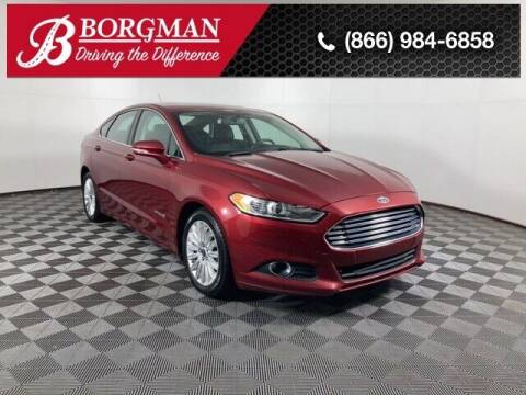 2014 Ford Fusion Hybrid for sale at BORGMAN OF HOLLAND LLC in Holland MI
