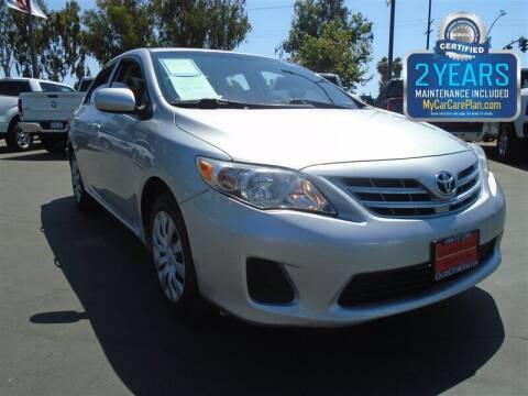 2013 Toyota Corolla for sale at Centre City Motors in Escondido CA