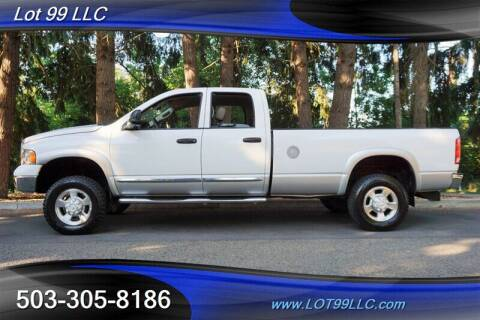 2004 Dodge Ram Pickup 3500 for sale at LOT 99 LLC in Milwaukie OR