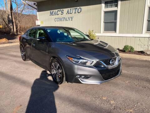 2017 Nissan Maxima for sale at MAC'S AUTO COMPANY in Nanticoke PA